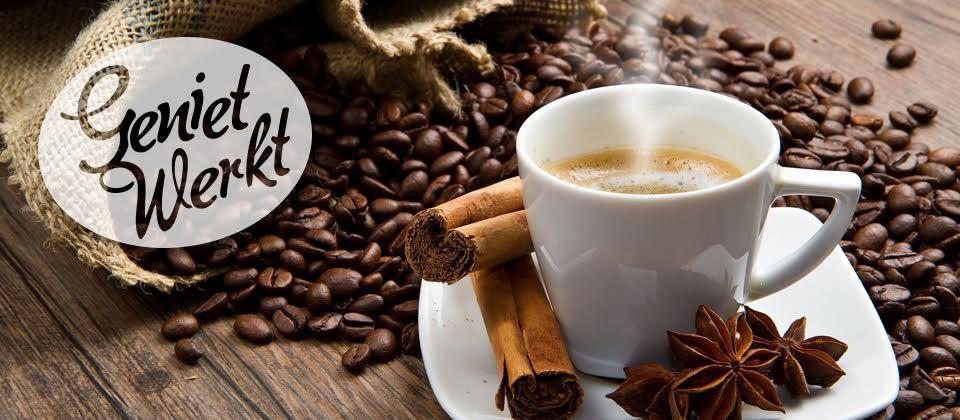 Geniet van koffie